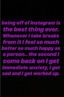 Hailey Bieber postet ihre Meinung zu Instagram in ihrer Story und erklärt, warum sie sich hin und wieder Auszeiten von der Plattform nimmt.