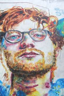 Ed Sheeran, wie ihn der KünstlerTyler Kennedy Stent auf einem Mauerstück in Dunedin gesehen hat