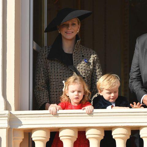 Fürstin Charlène mit ihren Kindern Gabriella und Jacques