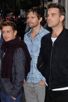 Take That in Originalbesetzung: Gary Barlow , Howard Donald, Mark Owen, Jason Orange und Robbie Williams