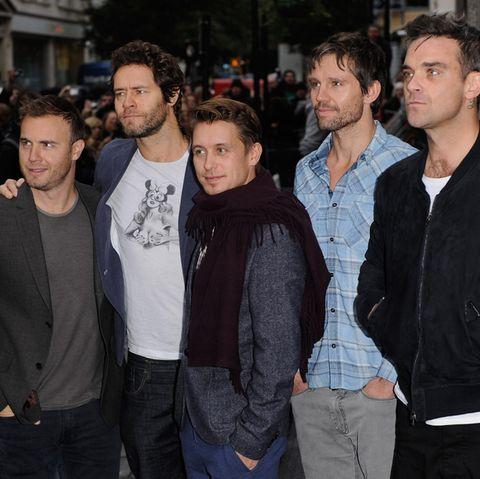 Take That in Originalbesetzung:Gary Barlow , Howard Donald, Mark Owen, Jason Orange und Robbie Williams