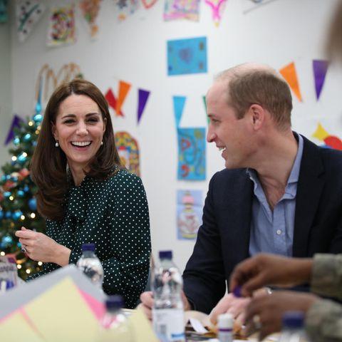 Herzogin Catherine und Prinz William bei ihrem Besuch in einer Unterkunft für Obdachlose