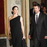 Bei diesem Besuch in Schwerin war Prinzessin Mary mit ihrem jüngsten Sohn Prinz Vincent schwanger. Der royale Spross erblickte am 8 Januar 2011 das Licht der Welt.