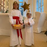 13. Dezember 2018  Zum Luciafest verkleidensich Prinzessin Estelle und Prinz Oscar und schlüpfen dazu in das weiße Gewand der heiligen Lucia.