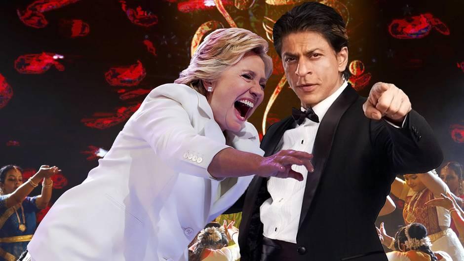 Hillary Clinton und Shah Rukh Khan