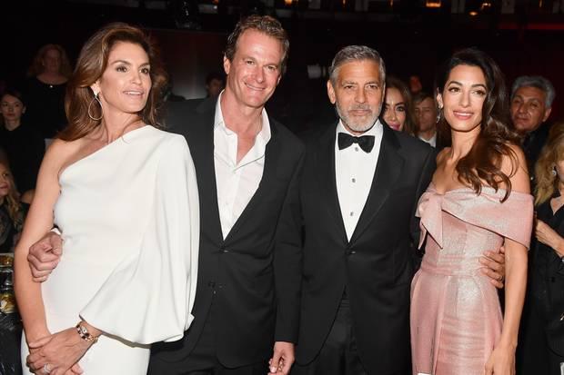 George und Amal Clooney sind eng mit Rande Gerber und Cindy Crawford befreundet.