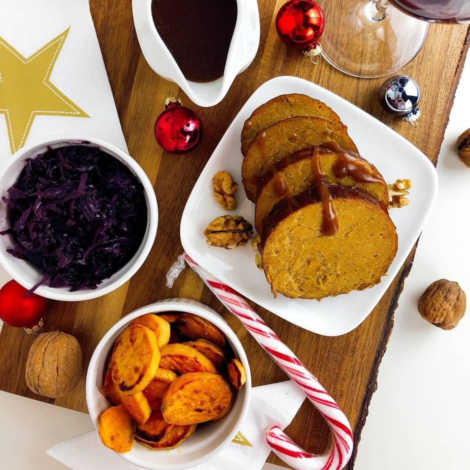 Veganes Weihnachtsmenü.Drei Gänge Samt Braten So Klappt Das Vegane Weihnachtsmenü Gala De