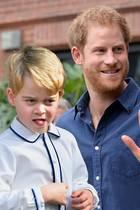 Prinz George und Prinz Harry