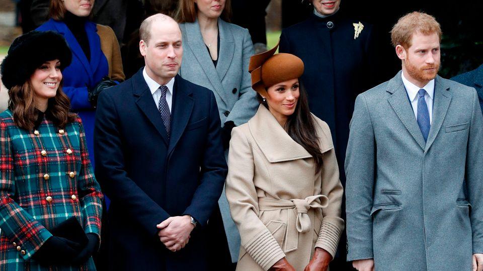 Traditionell geht die britische Königsfamilie am ersten Weihnachtstag in die Kirche