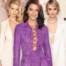 Rosie Huntington-Whitely, Kendall Jenner + Cara Delevingne