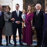 Das royale Familienbild darf natürlich nicht fehlen:Kronprinz Alexander, Prinzessin Maria da Gloria von Orleans-Braganza, Prinz Philip und Prinzessin Danica mit ihrem Kleinen,Milan Marinkovic Cile und Beba Marinkovic (v. l.)