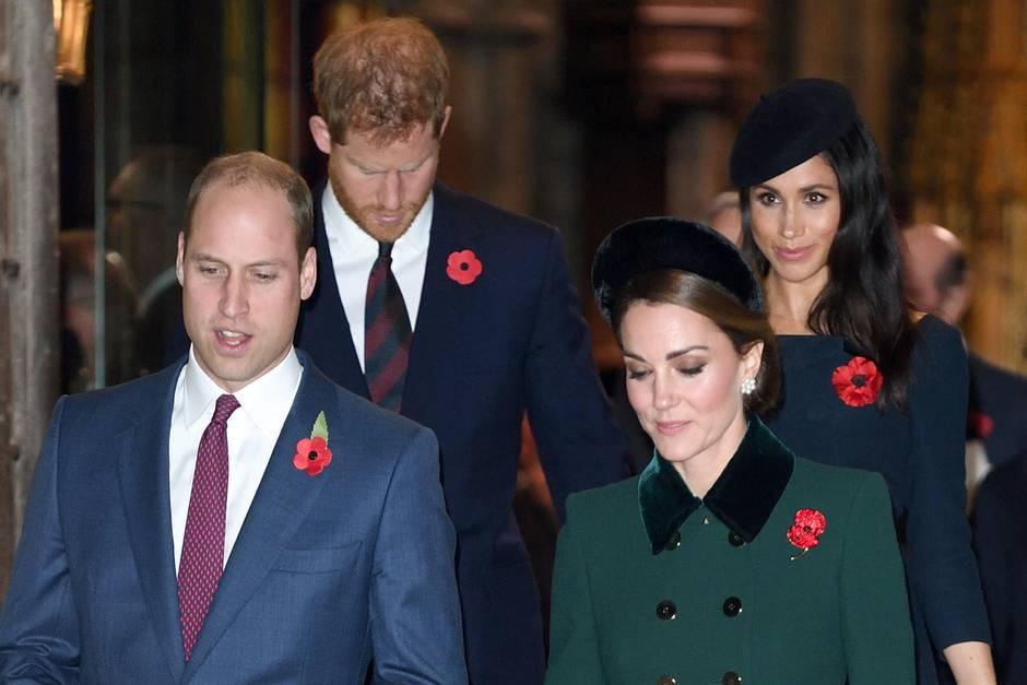 Prinz William, Herzogin Catherine, Prinz Harry + Herzogin Meghan