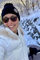 """""""Winter-Wunderland mit meinem Jungen"""", postet Tennislegende,und offensichtlicher Schnee-Fan,Ana Ivanovic."""