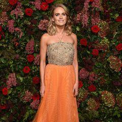 """Wow, bei den """"Evening Standard Theatre Awards 2018"""" erscheint Cressida Bonas in einem wahren Prinzessinnen-Look."""
