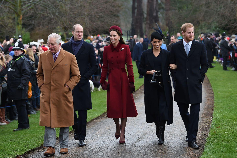 Prinz Charles, Prinz William, Herzogin Catherine, Herzogin Meghan, Prinz Harry