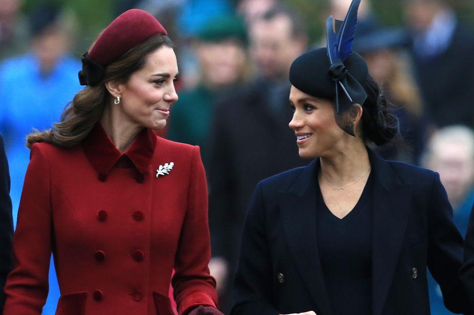 Herzogin Catherine und Herzogin Meghan verstehen sich gut - und alle sollen es sehen.