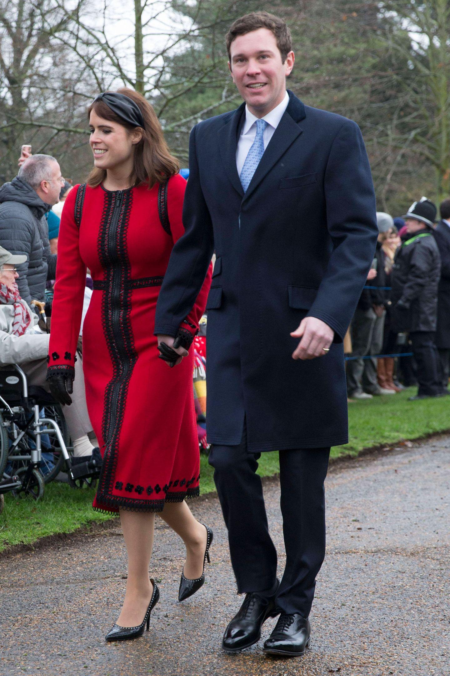 Premiere! Jack Brooksbank darf als Frischangetrauter von Prinzessin Eugenie auch erstmals am traditionellen Gottesdienst teilnehmen.