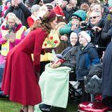 Für die kleinen Fans nimmt sich Herzogin Catherine besonders viel Zeit.