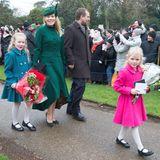 Auch wenn in diesem Jahr der Gottesdienst ohne Prinz George, Charlotte und Louise twas kinderlos war, freuen wir uns sehr, dassdie süßen Phillips-Töchter mitgekommen sind.