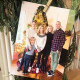Weihnachts-Inception: Mit Bild im Bild schickt Familie Witherspoon ihren Instagram-Fans herzliche Feiertagsgrüße.