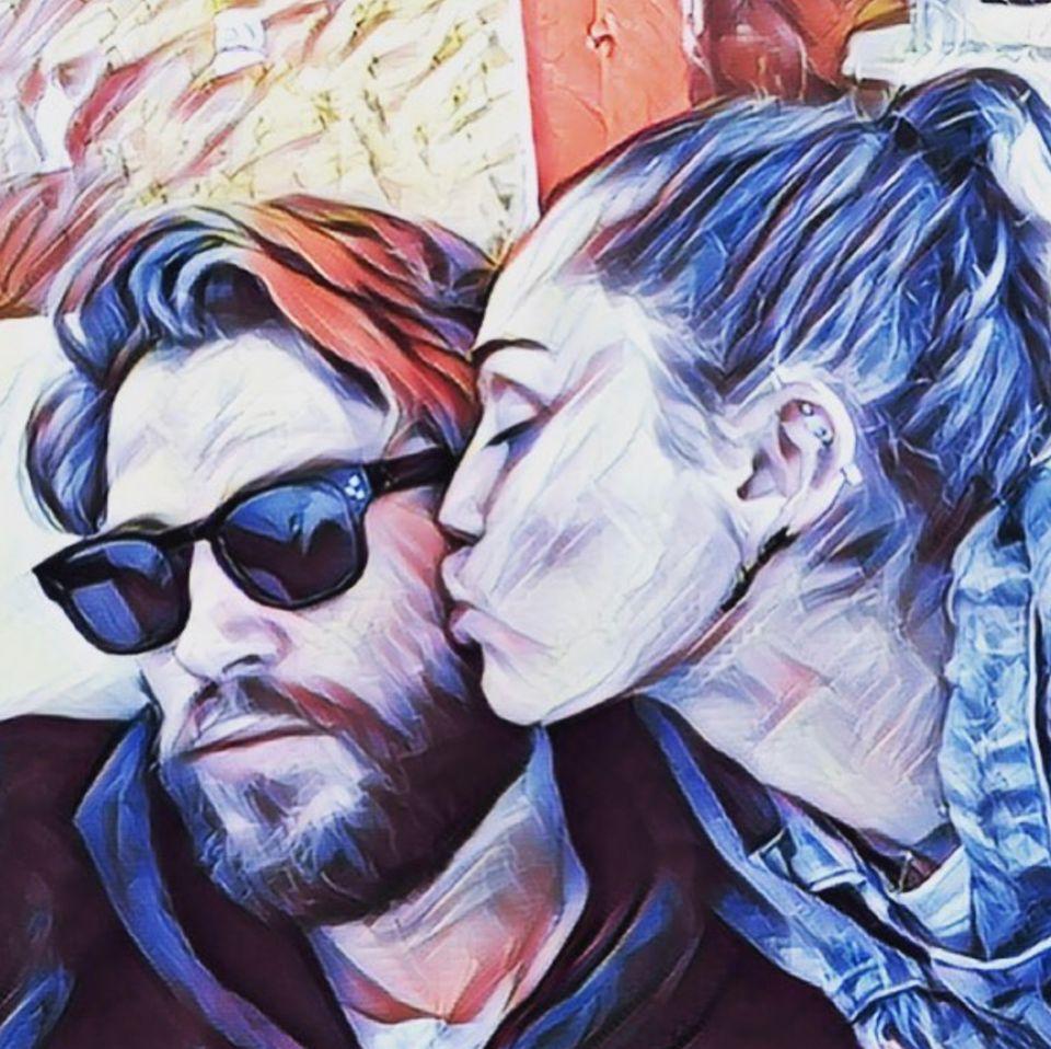 September 2017  Das Paar mal anders: Liam Hemsworth und Miley Cyrus als Cartoon-Zeichnung.