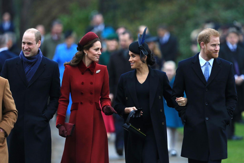 Prinz William, Herzogin Catherine, Herzogin Meghan, Prinz Harry