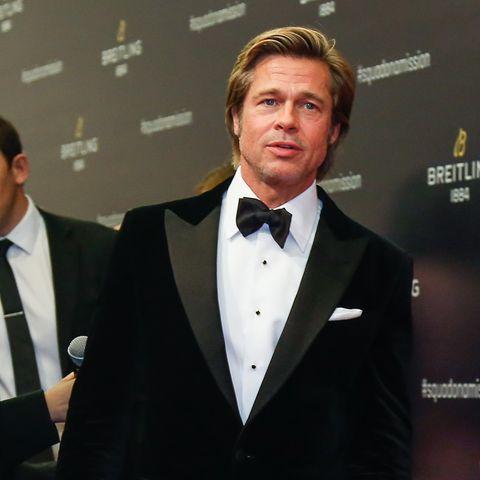 """Seit der Trennung von Angelina Jolie sieht man Brad Pitt nur selten auf dem roten Teppich. Hier besucht er am 20. November 2018 das """"Breitling Squadona Mission""""-Event in Peking, China"""