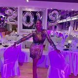 """Auf dieser Party wird garantiert getanzt! """"Let's Dance""""-Jurorin Motsi Mabuse begrüßt das neue Jahrin ihrer Tanzschule in der Nähe von Frankfurt."""