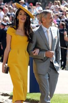 Amal und George Clooney gehören zu dem ausgewählten Freundeskreis von Herzogin Meghan und Prinz Harry.