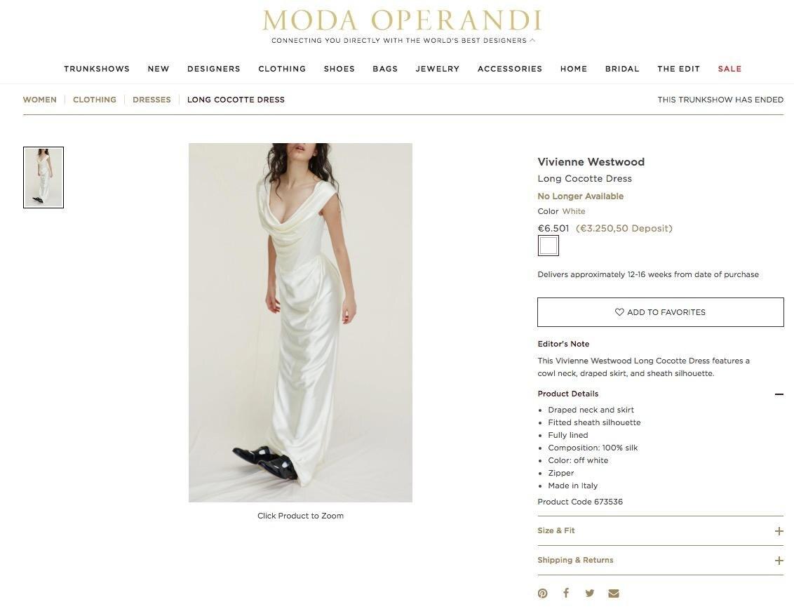 Ein Traum aus Seide: Das Hochzeitskleid von Miley Cyrus ist bereits vergriffen.