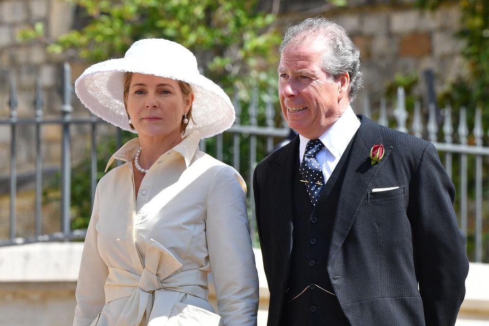 David Armstrong-Jones und Ehefrau Serena bei der Hochzeit von Prinz Harry und Meghan Markle im Mai 2018