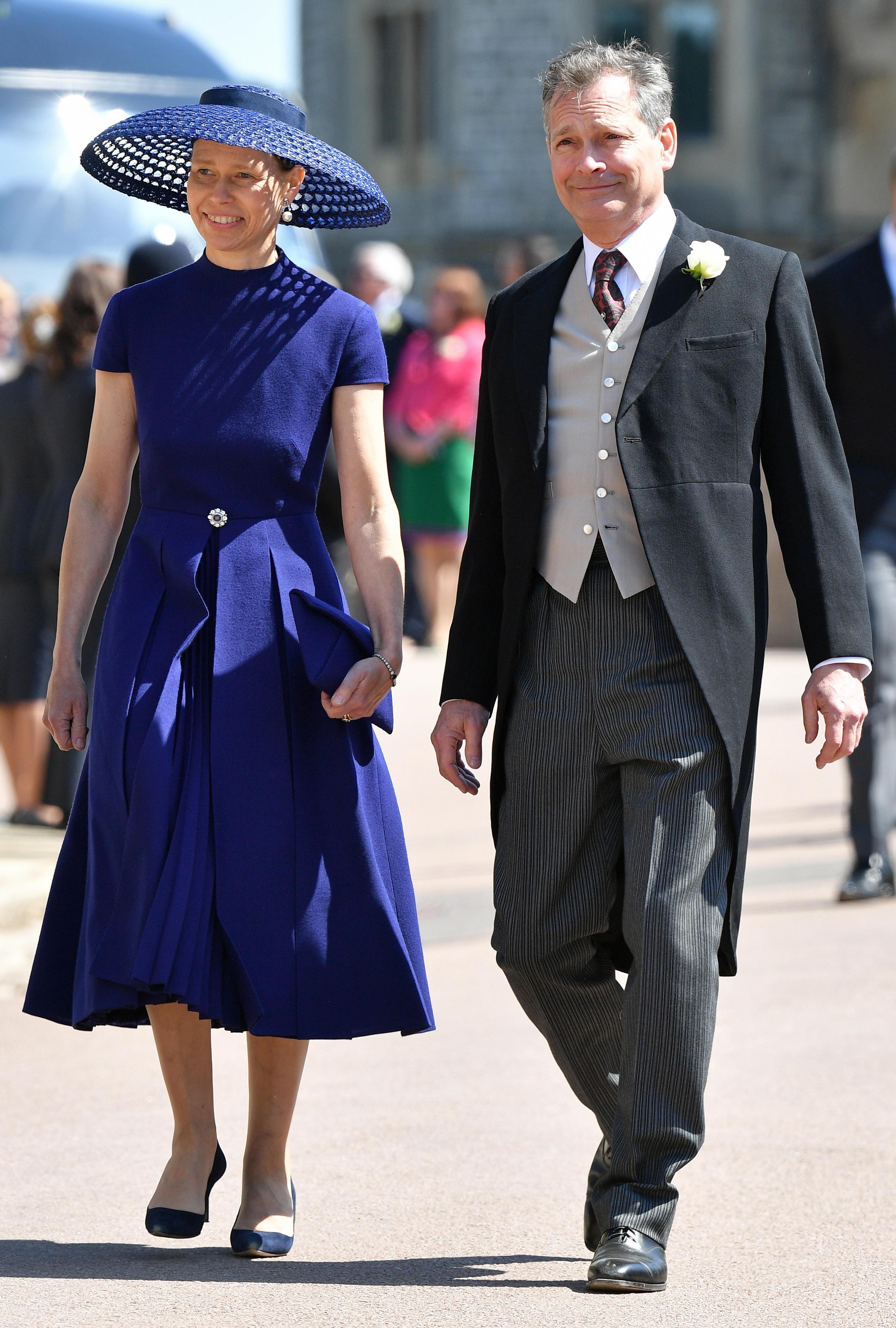 Lady Sarah Chatto und Ehemann Daniel besuchen im Mai 2018 die Hochzeit von Prinz Harry und Meghan Markle
