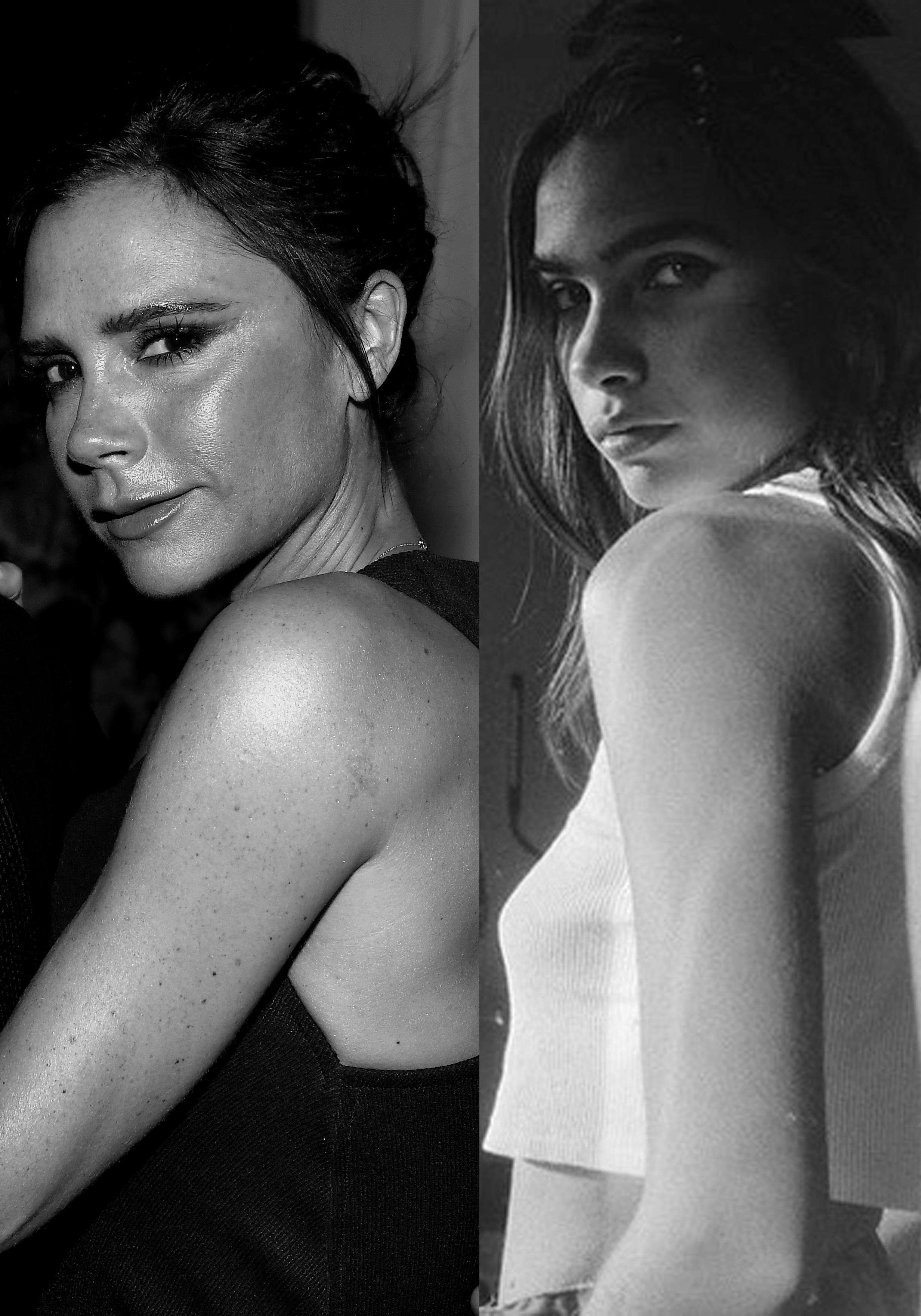 Die neue Freundin von Brooklyn Beckham, Hana Cross (re. im Bild), sieht Victoria Beckham (li.) sehr ähnlich.