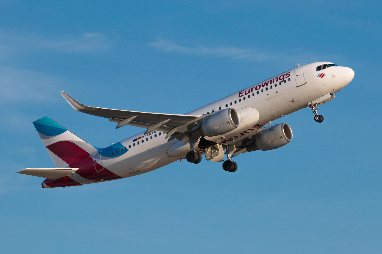 Ein Flugzeug der Billigfluggesellschaft Eurowings