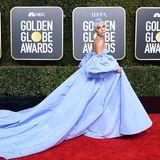 Pop-Star Lady Gagas imposante Robe lässt nur wenig Platz für Nebenbuhler.