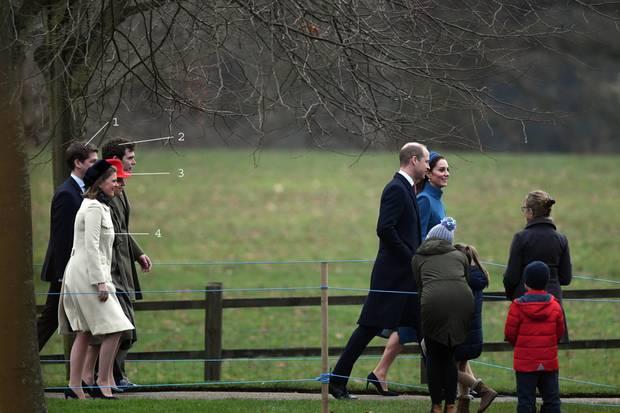 Kate und William sind unterwegs mit den Ehepaaren Meade (2+4) und Jadine-Paterson (1+3)