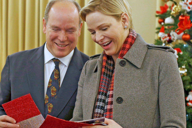 Fürstin Charlène und Prinz Albert