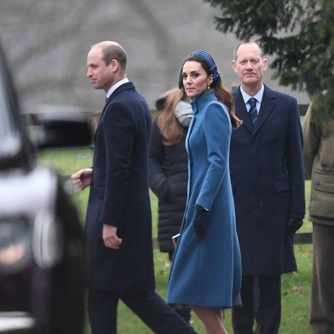 Prinz William und Herzogin Catherine am 6. Januar 2019 in Sandringham