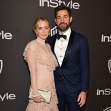 Emily Blunt und John Krasinksi haben sich für die Golden-Globe-Party von Warner Bros auch noch einmal umgezogen.