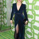 Christina Ricci bezaubert bei der HBO-Party in blauem Samt.