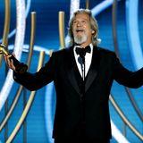 Schauspieler Jeff Bridges (The Big Lebowski) erhält den Golden Globe Award für sein Lebenswerk.