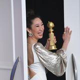 """Sandra Oh wird """"Beste Serien-Hauptdarstellerin in einem Drama"""". Bei der Serie handelt es sich um """"Killing Eve""""."""