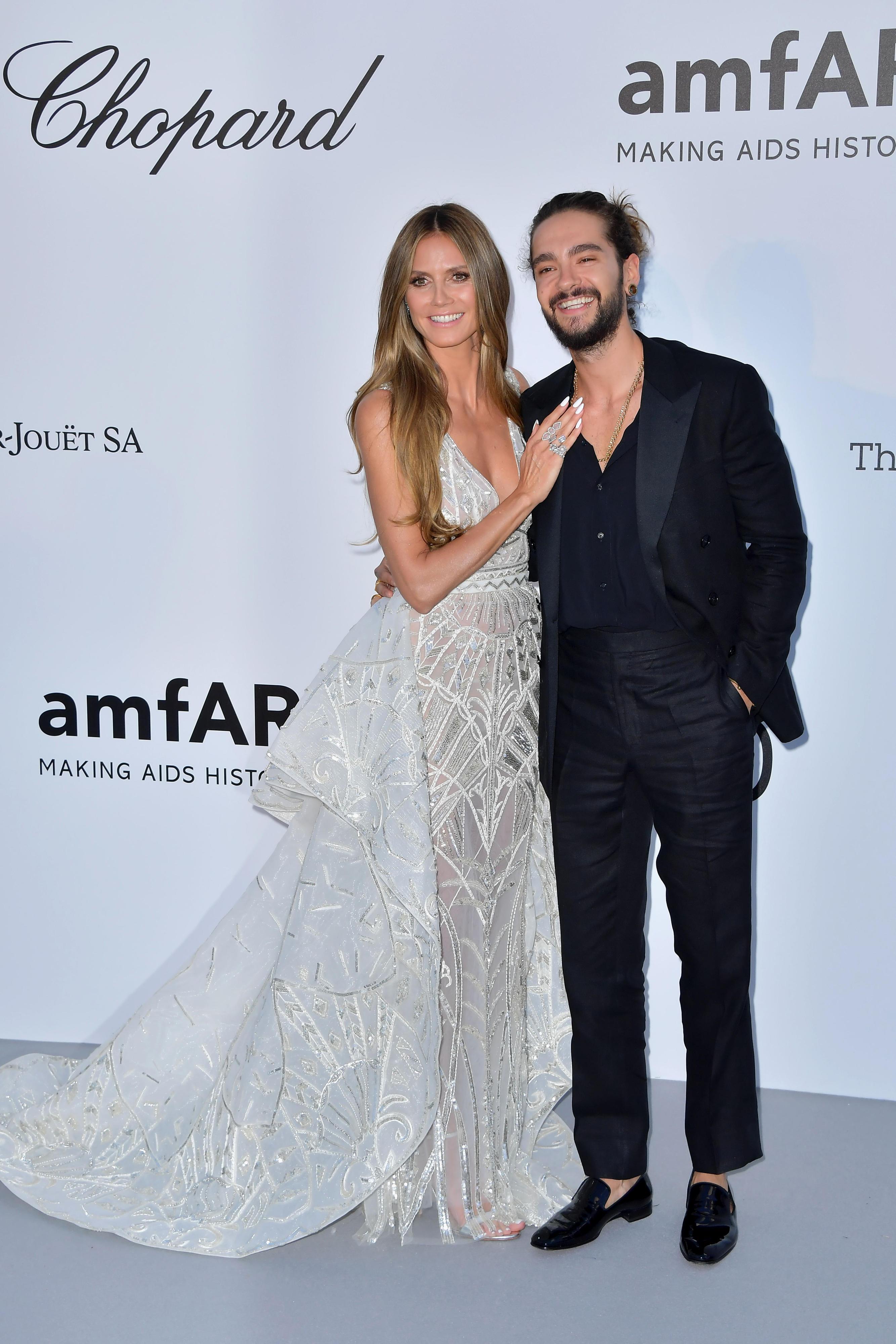 Generalprobe gelungen: Bei der Amfar-Gala strahlte Heidi neben Tom in ihrer weißen Robe von Zuhair Murad, wirkte da schon wie eine Braut