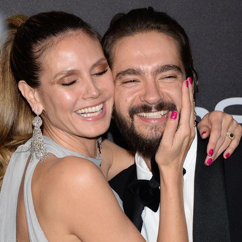 So glücklich: Heidi und Tom am Sonntag bei den Golden Globes in Beverly Hills