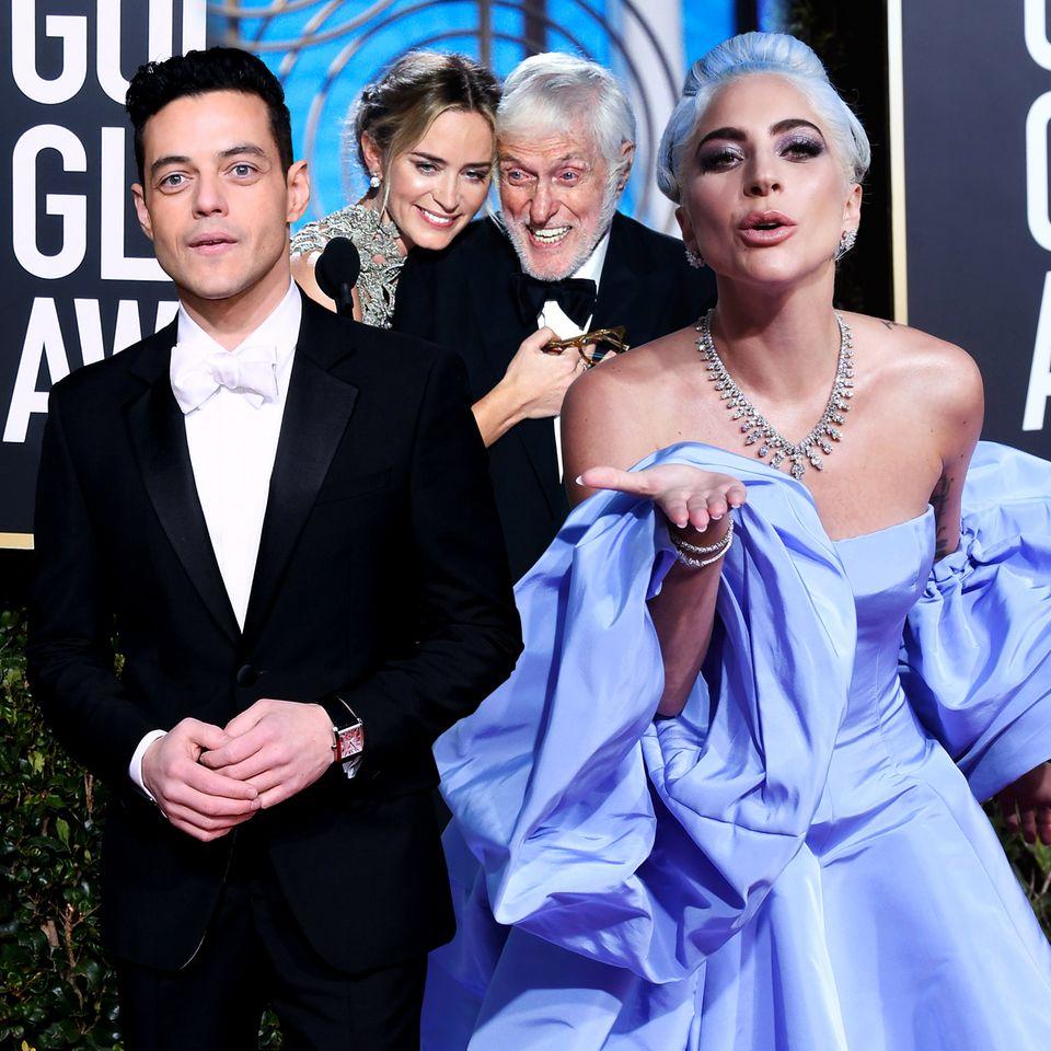 """Rami Malek, Emiliy Blunt, Dick van Dyck und Lady Gaga sorgen für besondere Momente bei den """"Golden Globes"""""""