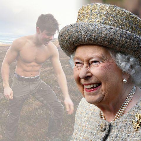 Queen Elizabeth und Arthur Chatto