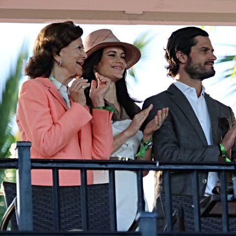 Königin Silvia, Prinzessin Sofia, Prinz Carl Philip und König Carl Gustaf