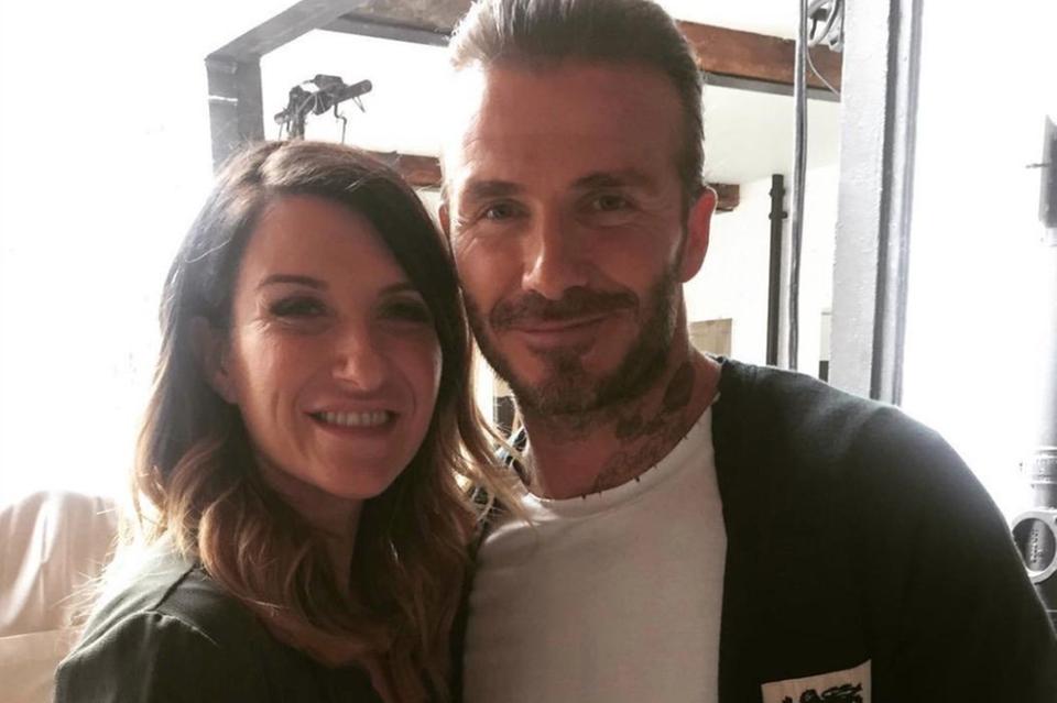 David Beckham und Schwester Joanne