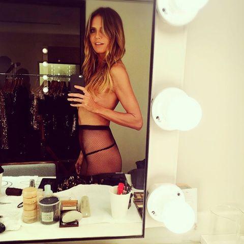 Auf Instagram lässt Heidi Klum sowieso gerne einmal die Hüllen fallen. Ihre Brüste bedeckt sie allerdings immer.