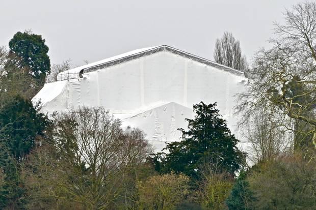 Frogmore Cottage, das neue Zuhause von Prinz Harry und Meghan Markle, wird umfangreich renoviert. Das zeigt ein Foto, das am 10. Januar 2019 veröffentlicht wurde
